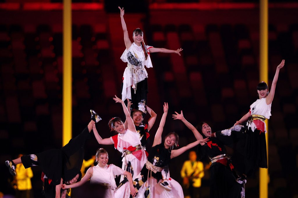 Entertainers perform during the Closing Ceremony of the Tokyo 2020 Olympic Games at Olympic Stadium on Augu. 8, 2021 in Tokyo, Japan.