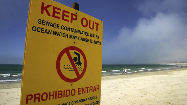 Beaches Close In Long Beach Following Sewage Spill in Los Angeles River