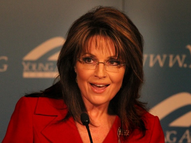 020411 Sarah Palin at Regan Ranch Center