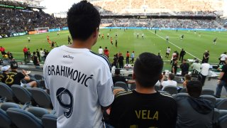 Zlatan and Vela Fans for LAFC vs Galaxy