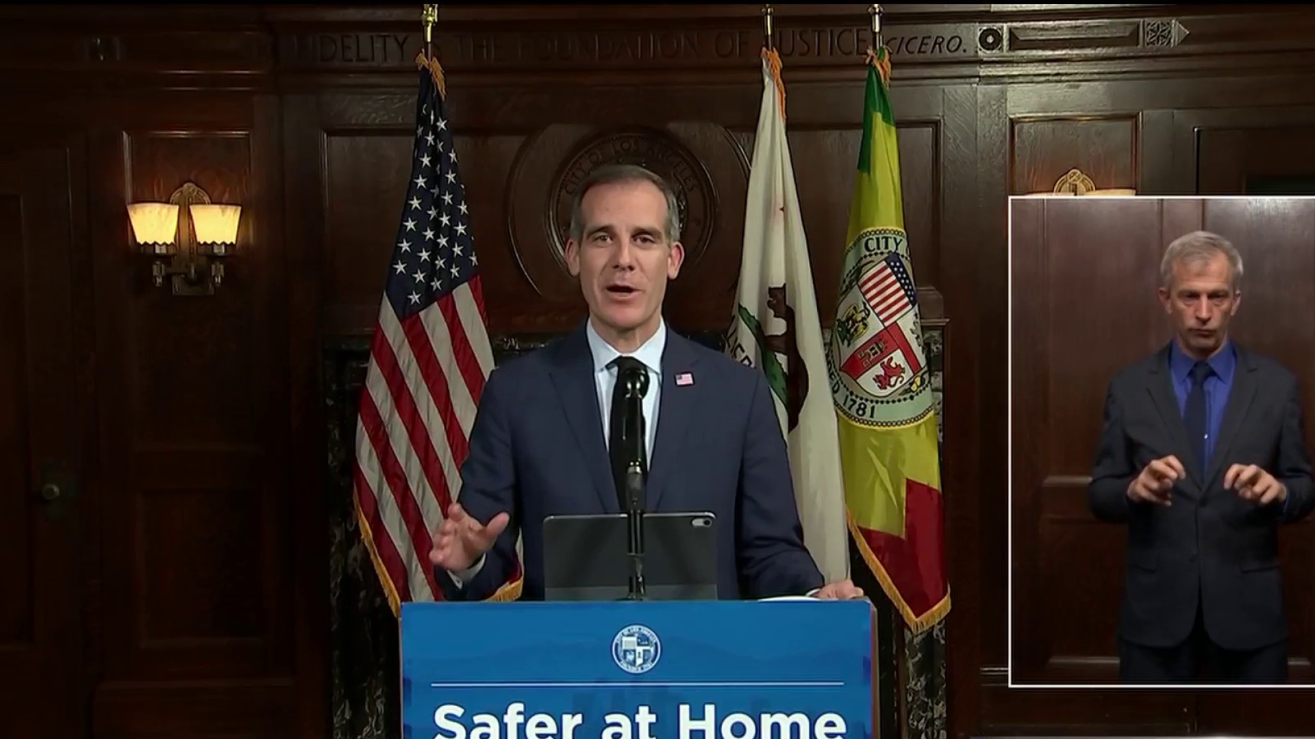 Mayor Garcetti Makes Statement on George Floyd's Death During Briefing