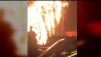 Illegal Fireworks Spark Apartment Building Fire and Displace 50 Residents