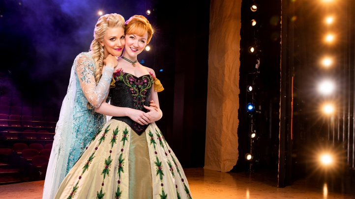 4-Duo- Caroline Bowman as Elsa and Caroline Innerbichler as Anna photo by Matthew Murphy for MurphyMade