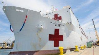 USNS Mercy in San Diego