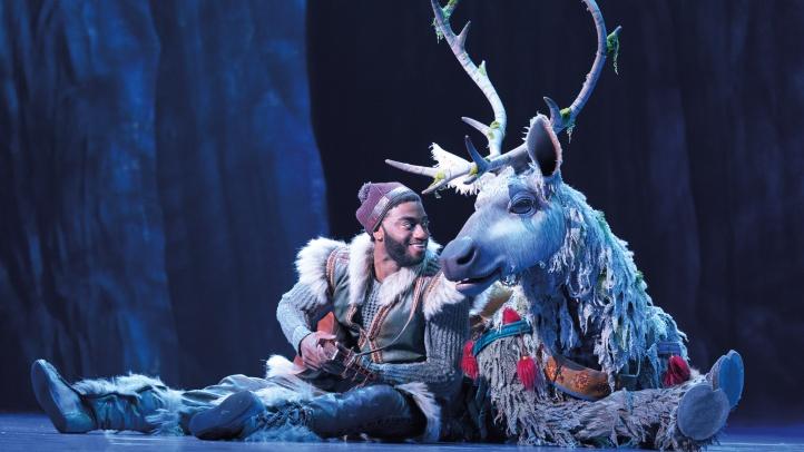 8-Jelani Alladin (Kristoff) and Andrew Pirozzi (Sven) in FROZEN on Broadway. Photo by Deen van Meer (1)