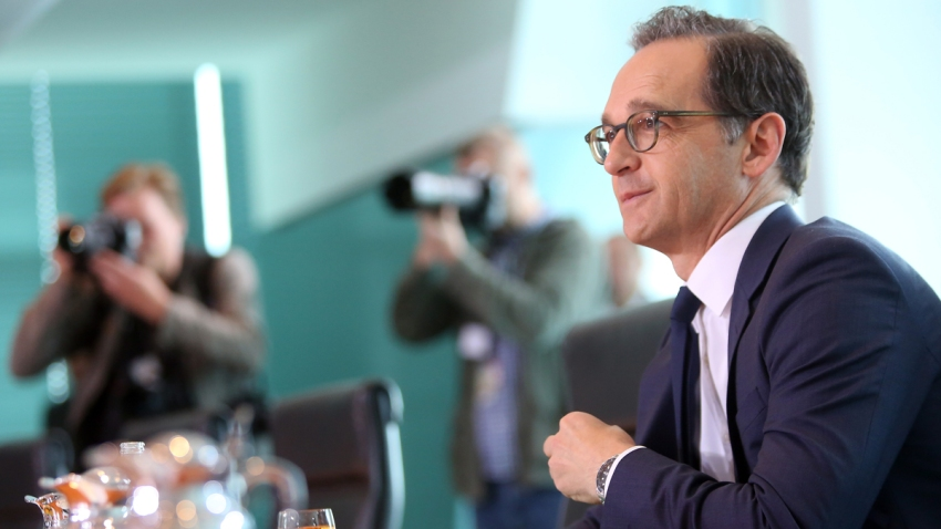 In this June 28, 2017, file photo, Justice Minister Heiko Maas (SPD) arrives for the weekly German federal Cabinet meeting in Berlin, Germany.