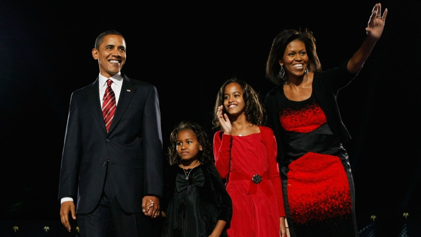 Michelle Obama red Narciso Rodriguez