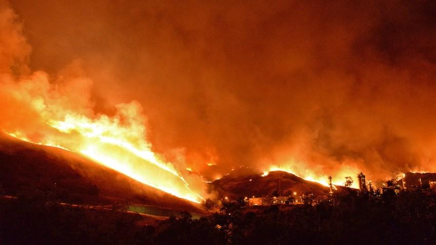 Sherpa Fire Burns in Santa Barbara County