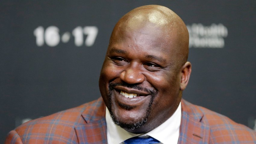 In this Dec. 22, 2016, file photo, retired Hall of Fame basketball player Shaquille O'Neal smiles as he talks to reporters during an NBA basketball news conference in Miami.