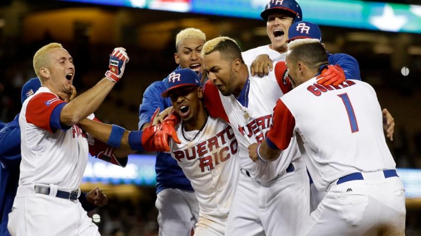APTOPIX WBC Netherlands Puerto Rico Baseball