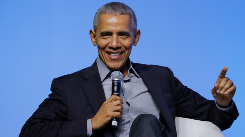 In this Dec. 13, 2019, file photo, former U.S. President Barack Obama attends a plenary session of the Gathering of Rising Leaders in the Asia Pacific, organized by the Obama Foundation in Kuala Lumpur, Malaysia.