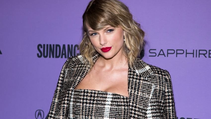 "Taylor Swift attends the premiere of ""Taylor Swift: Miss Americana"" at the Eccles Theater during the 2020 Sundance Film Festival on Thursday, Jan. 23, 2020, in Park City, Utah."