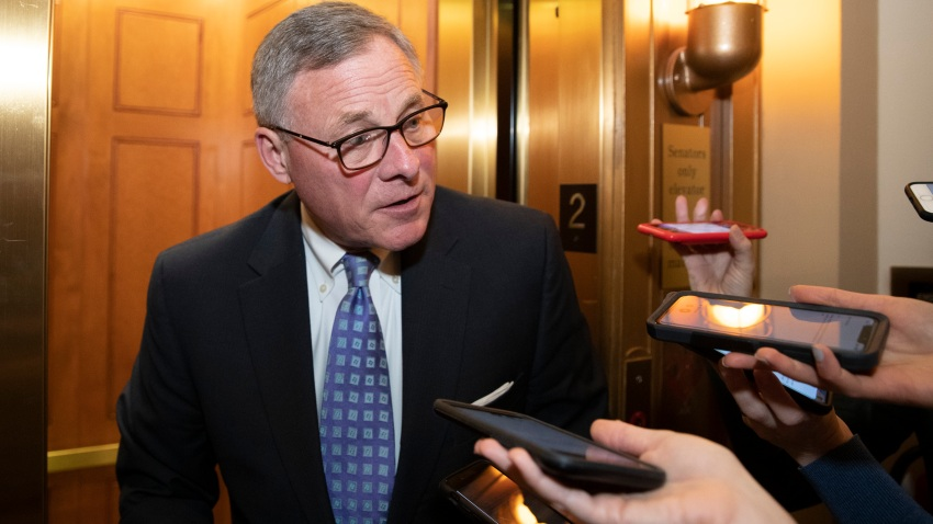 In this file photo, Sen. Richard Burr, R-N.C., speaks with reporters on Capitol Hill, Tuesday, Feb. 4, 2020 in Washington.