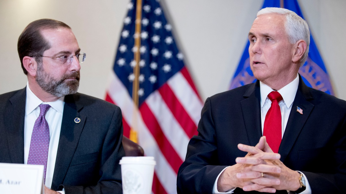 Pence Tries to Project Calm as Virus Response Coordinator 1