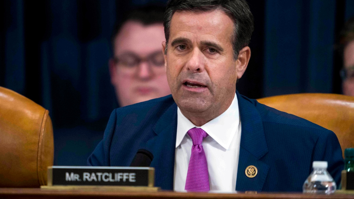 Trump Picks John Ratcliffe to Be US Top Intelligence Official Again  1