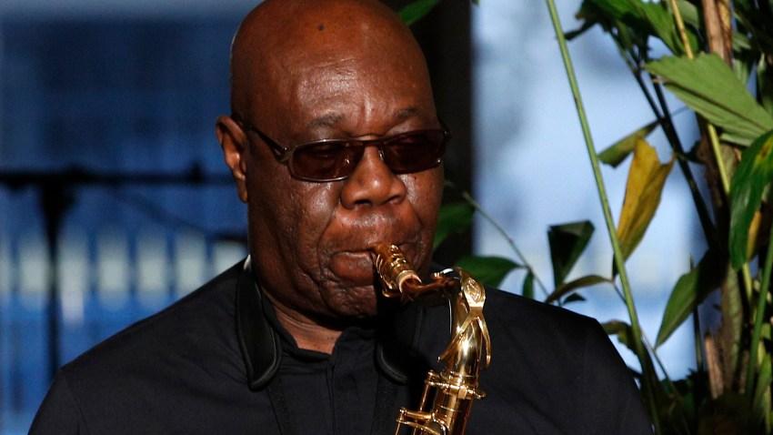 Manu Dibango performs