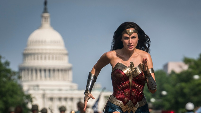"This image released by Warner Bros. Pictures shows Gal Gadot as Wonder Woman in a scene from ""Wonder Woman 1984."""