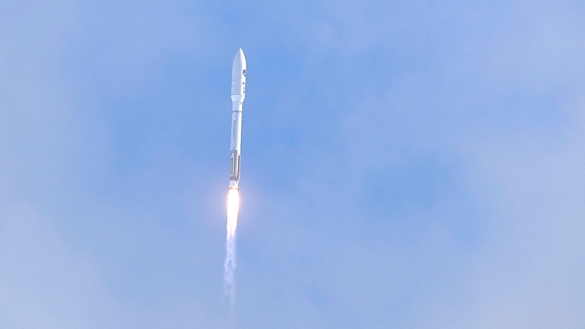 In this May 17, 2020, file photo, a United Launch Alliance Atlas V rocket lifts off from Launch Complex 41 at the Cape Canaveral Air Force Station in Cape Canaveral, Florida.