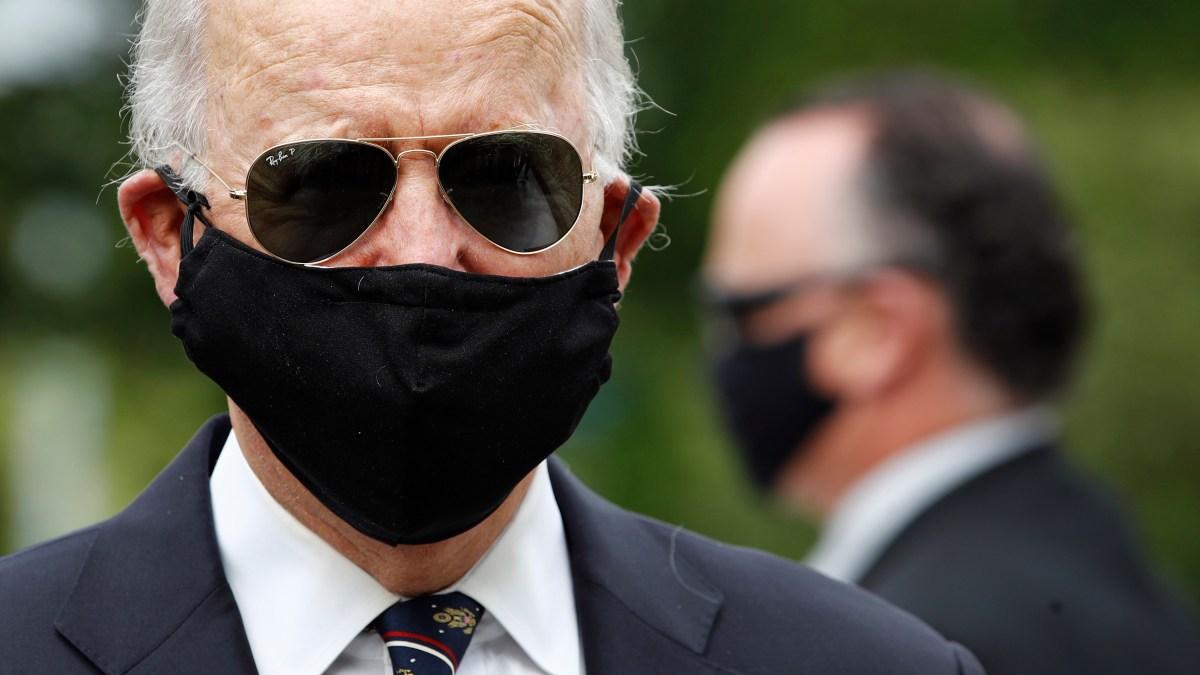 Biden Knocks Trump for 'this Macho Stuff' in Shunning Masks 1
