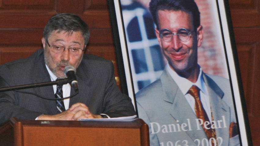 In this April 15, 2007, file photo, Dr. Judea Pearl, father of American journalist Daniel Pearl, who was killed by terrorists in 2002, speaks in Miami Beach, Florida. A Pakistani court on Thursday, December 24, 2020, ordered a British Pakistani man found guilty of the kidnapping and murder of the Wall Street Journal journalist be freed.