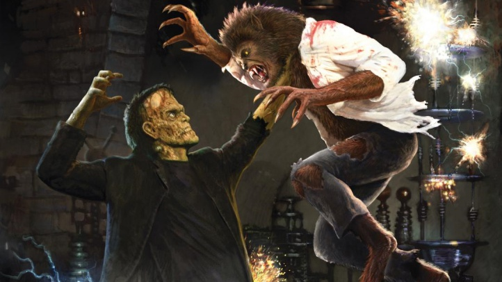 Frankenstein Meets The Wolf Man maze at USH-HHN 2019