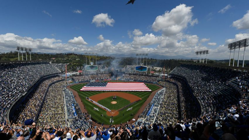 Dodger Stadium Opening Day