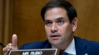 In this Oct. 30, 2019, file photo, Sen. Marco Rubio, R-Fla., attends the Senate Foreign Relations Committee confirmation hearing for Deputy Secretary of State John J. Sullivan to be U.S. ambassador to Russia in the Dirksen Building in Washington, DC.