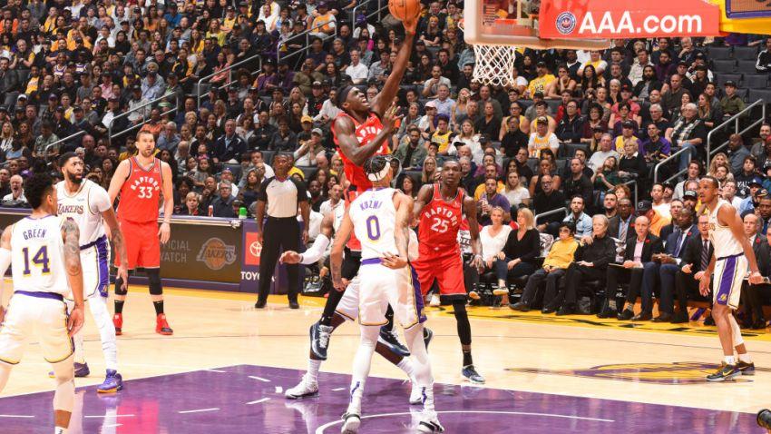 Raptors Beat Lakers
