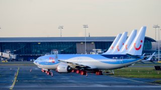 4 Boeing 737 MAX from TUI fly Belgium are docked in Brussels on Dec. 18, 2019.