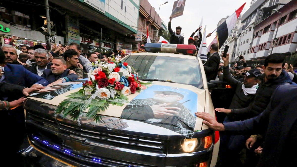Rockets Fired After Day of Mourning for Slain Iranian Leader 1