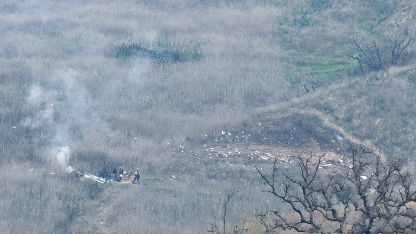 General view of the scene of the helicopter crash on Jan. 26, 2020, in Los Angeles, that left nine dead, including Kobe Bryant and his daughter, Gianna.