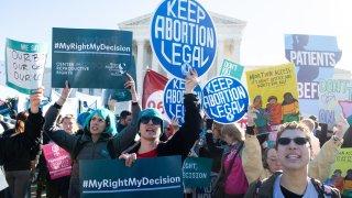 pro-choice activists Supreme Court