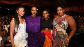 Storm Reid, Rihanna, Janelle Monae and Lizzo at the NAACP Image Awards