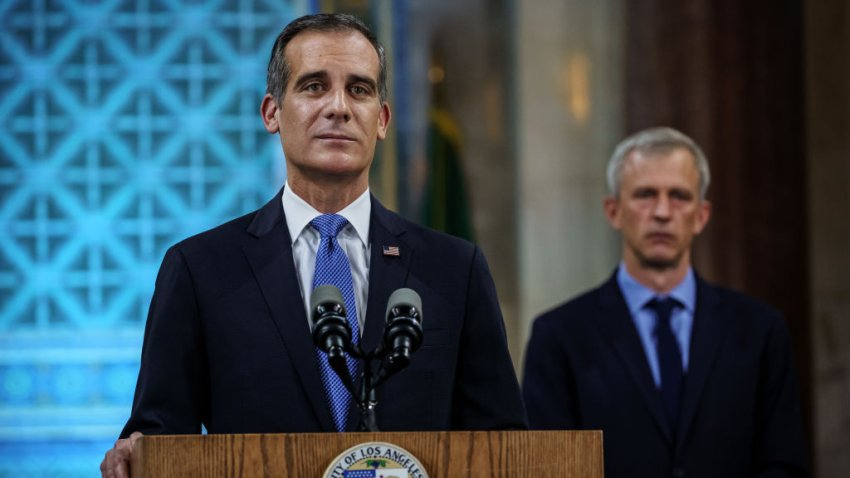 Mayor Eric Garcetti gives his annual state of the city speech