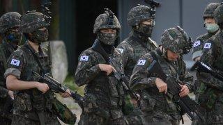 South Korean soldiers