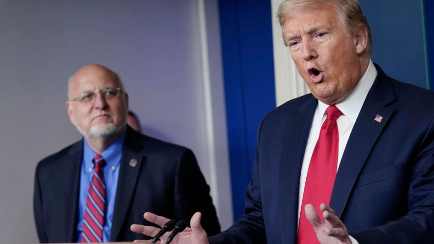 Trump: 'I Don't Agree' With CDC Director's Mask Message