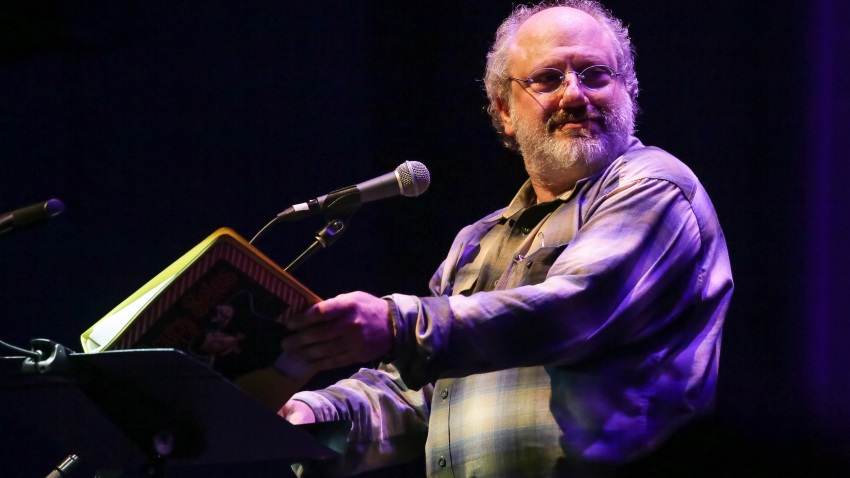 Hal Willner performs at a celebration of the 60th anniversary of Allen Ginsberg's Howl