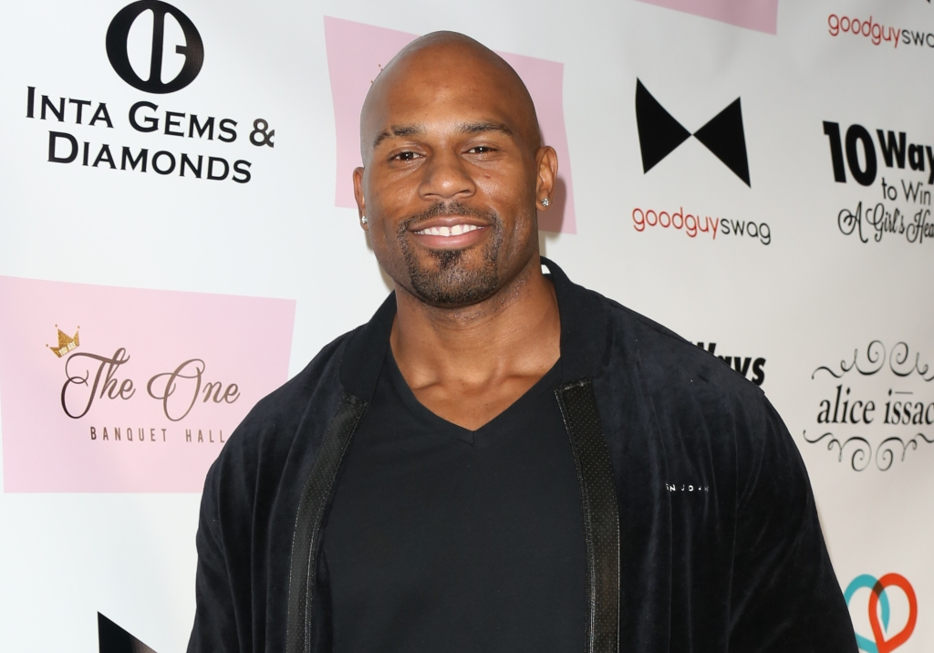 "Pro Wrestler Shad Gaspard attends the book release party for Kris Wolfe's ""10 Ways To Win A Girl's Heart"" at The One Banquet Hall on November 19, 2015 in Los Angeles, California."