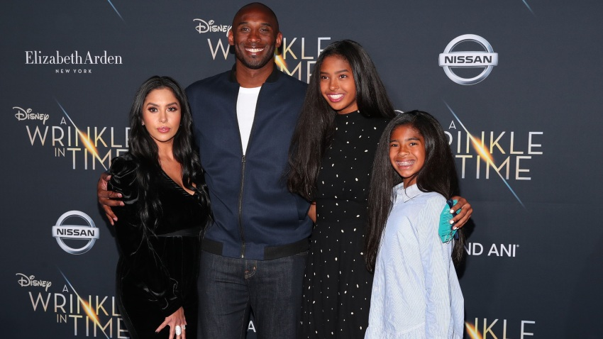 Kobe Bryant and his family