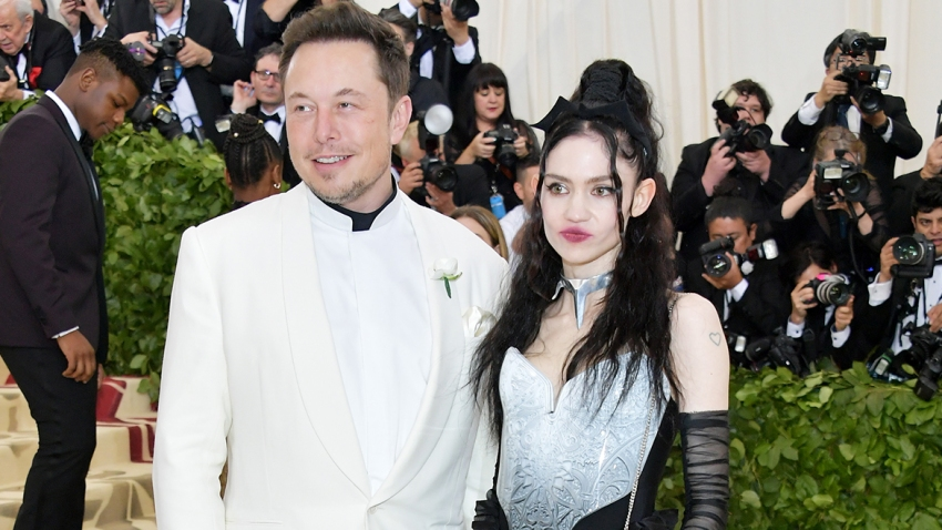 In this May 7, 2018, file photo, Elon Musk and Grimes attend the Costume Institute Gala at the Metropolitan Museum of Art in New York City.