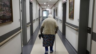 A file photo of a resident in a nursing home.
