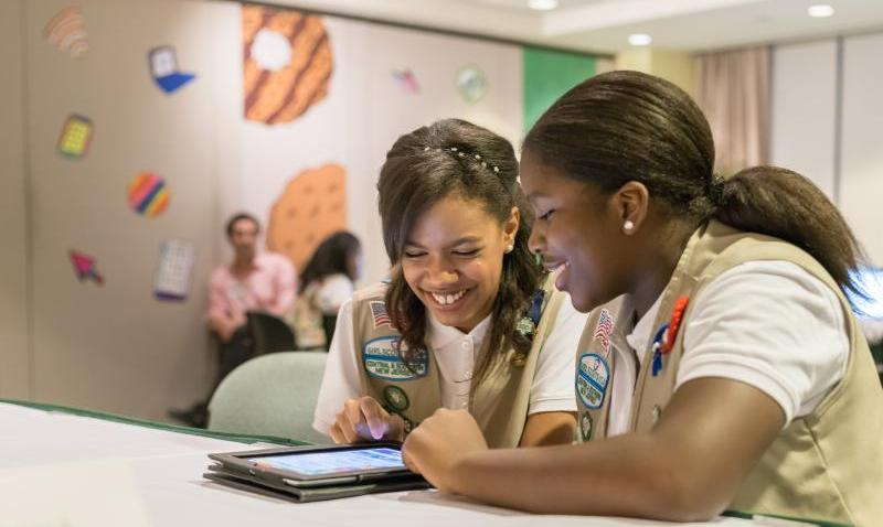 Bria and Shirell Girl Scout Cookie Program