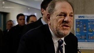 Harvey Weinstein arrives at court in his rape trial, in New York