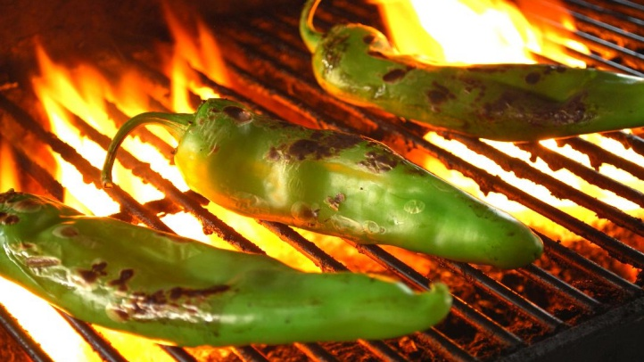 Hatch Chiles on Grill 2