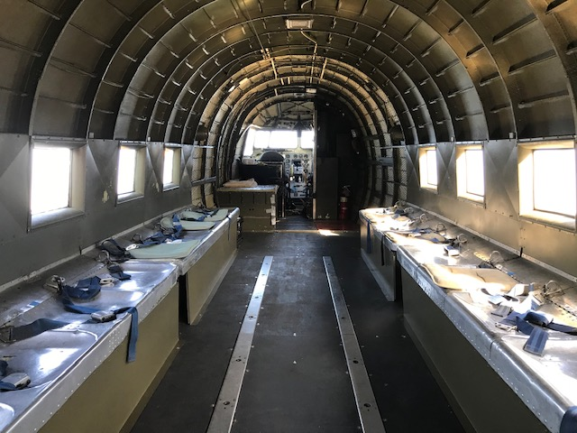 A view of the inside of the D-Day Doll  World War II plane in Riverside.