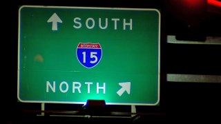 Interstate-15-highway-sign