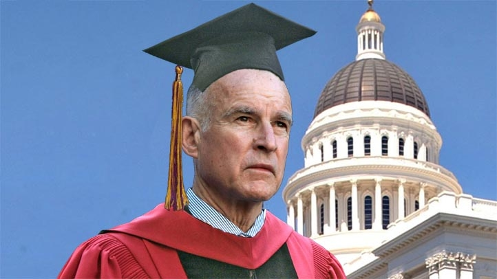 Jerry Brown in Gown