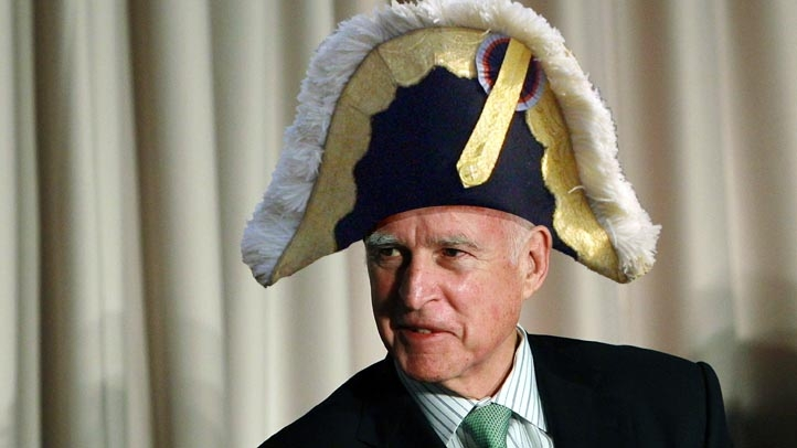 Jerry Brown in Napolean Hat