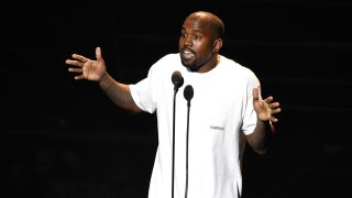 In this Aug. 28, 2016, file photo, Kanye West appears at the MTV Video Music Awards at Madison Square Garden in New York.
