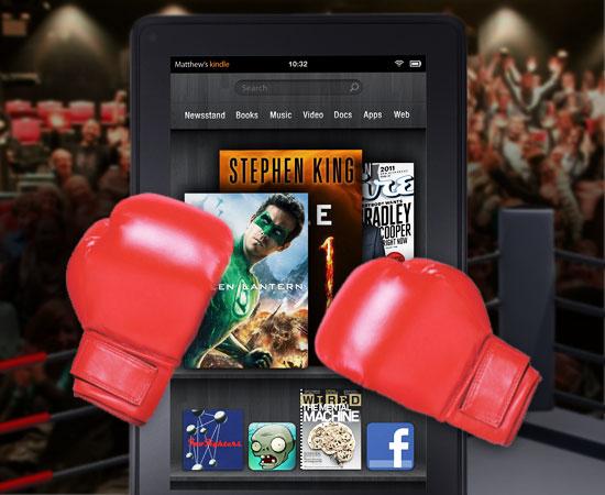 Kindle-Fire-Apple-iPad-tablet-wars